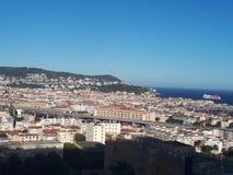 Visión panorámica de Niza imagen de archivo libre de regalías