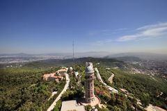 Visión panorámica desde el área de Tibidabo Imagen de archivo libre de regalías