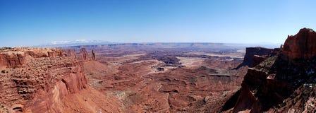 Visión panorámica desde el arco del Mesa Foto de archivo libre de regalías