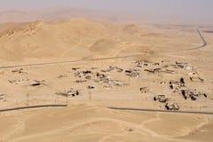 Visión panorámica desde el castillo en la ciudad antigua del Palmyra fotografía de archivo libre de regalías