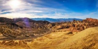 Visión panorámica desde el punto de Zabriskie en Death Valley fotografía de archivo
