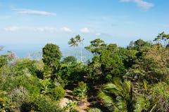 Visión panorámica desde la colina Buda grande en Phuket foto de archivo libre de regalías