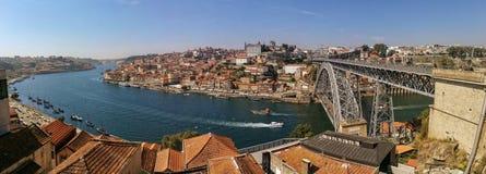 Visión panorámica desde Oporto Foto de archivo libre de regalías
