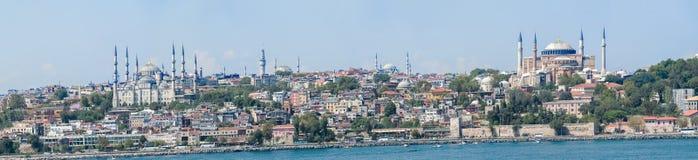 Visión panorámica en Estambul, Turquía Imagenes de archivo