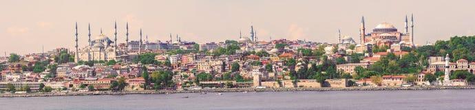 Visión panorámica en Estambul, Turquía Imagen de archivo libre de regalías