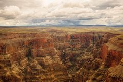 Visión panorámica en Grand Canyon Foto de archivo libre de regalías