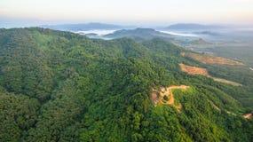 Visión panorámica imponente en Samed Nang ella punto de vista Fotografía de archivo libre de regalías