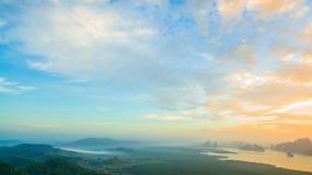 Visión panorámica imponente en Samed Nang ella punto de vista Fotos de archivo
