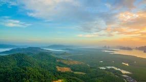 Visión panorámica imponente en Samed Nang ella punto de vista Foto de archivo