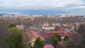 Visión panorámica sobre el centro histórico de Roma almacen de metraje de vídeo