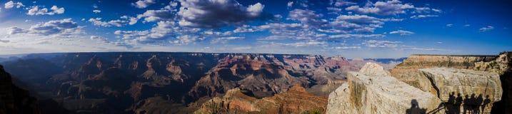 Visión panorámica sobre Grand Canyon Imágenes de archivo libres de regalías