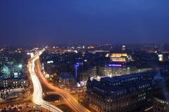 Visión panorámica urbana Imagen de archivo libre de regalías