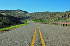 Visión para la opinión sobre el Carretera-relajante abierto Foto de archivo libre de regalías