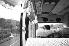 Visión por dentro del autobús Fotos de archivo