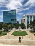 Visión que mira abajo de Main Street de Carolina State House del sur Fotografía de archivo libre de regalías