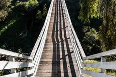 Visión que mira abajo en el puente histórico de la calle del membrillo Imagen de archivo