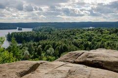 Visión que pasa por alto el paisaje de Ontario Fotos de archivo libres de regalías