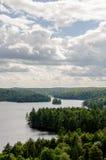 Visión que pasa por alto el paisaje de Ontario Foto de archivo libre de regalías