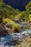 Visión rio abajo de la Virgen Fotos de archivo libres de regalías