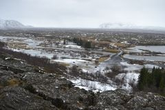 Visión rocosa en Islandia Fotos de archivo