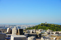 Visión sobre Atenas Foto de archivo