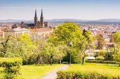 Visión sobre Bamberg y la abadía de Michaelsberg Fotos de archivo