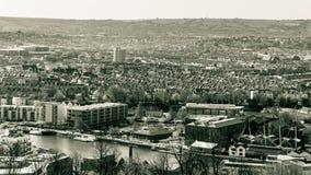 Visión sobre Bristol Row Of Terraced Houses B Inglaterra Imágenes de archivo libres de regalías