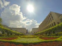 Visión sobre Bruselas desde arriba de artes del DES del mont Foto de archivo libre de regalías