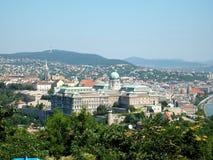 Visión sobre Budapest y Donau Imagen de archivo