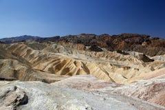Visión sobre el barranco de oro en el parque nacional de Death Valley Imagen de archivo libre de regalías