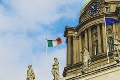 Visión sobre el edificio de aduanas en el distrito de Dublin One Imagen de archivo