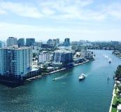 Visión sobre el intracostero del Fort Lauderdale Fotos de archivo