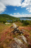 Visión sobre el lago Achray, Escocia Foto de archivo libre de regalías