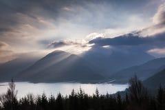 Visión sobre el lago Duich Fotos de archivo