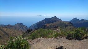 Visión sobre el paisaje de Tenerife Imagen de archivo