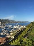 Visión sobre el puerto deportivo de Mónaco Fotos de archivo libres de regalías