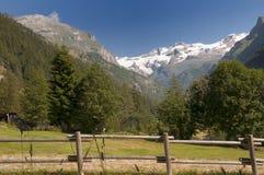 Visión sobre el soporte Rosa Glacier fotos de archivo