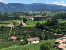 Visión sobre el Tyrol del sur Italia Imagen de archivo libre de regalías