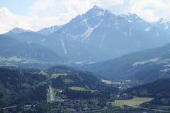 Visión sobre Innsbruck foto de archivo libre de regalías
