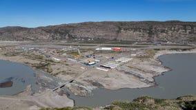 Visión sobre Kangerlussuaq, Groenlandia imágenes de archivo libres de regalías