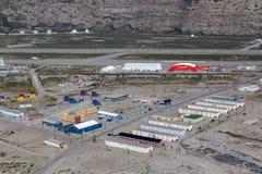 Visión sobre Kangerlussuaq, Groenlandia foto de archivo