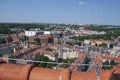 Visión sobre la ciudad de Gdansk, Polonia fotos de archivo