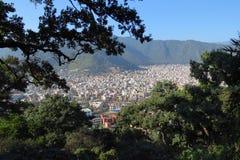 Visión sobre la ciudad de Katmandu, Nepal fotos de archivo