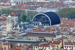 Visión sobre la ciudad de Lyon - teatro de la ópera, Lyon, Fra Imágenes de archivo libres de regalías