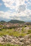 Visión sobre la ciudad de Plovdiv, Bulgaria Fotos de archivo libres de regalías