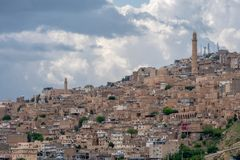 Visión sobre la ciudad vieja de Mardin, Turquía fotos de archivo libres de regalías