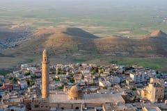 Visión sobre la ciudad vieja de Mardin, Turquía foto de archivo libre de regalías