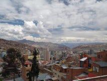 Visión sobre La Paz, Bolivia imagenes de archivo