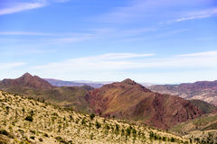Visión sobre las montañas de atlas Fotografía de archivo libre de regalías