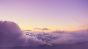 Visión sobre las nubes Fotografía de archivo libre de regalías